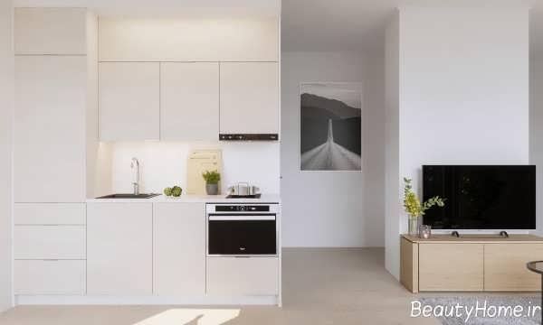 دکوراسیون آشپزخانه کوچک و زیبا