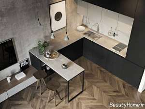 دکوراسیون زیبا آشپزخانه کوچک