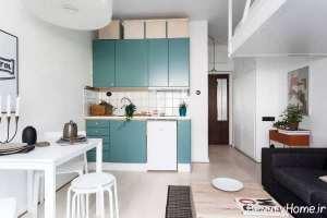 طراحی زیبا و کاربردی آشپزخانه کوچک