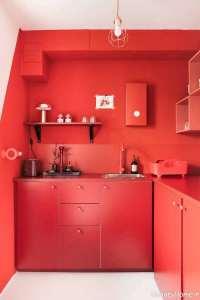 دکوراسیون داخلی آشپزخانه قرمز