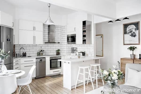دکوراسیون داخلی سفید برای آشپزخانه