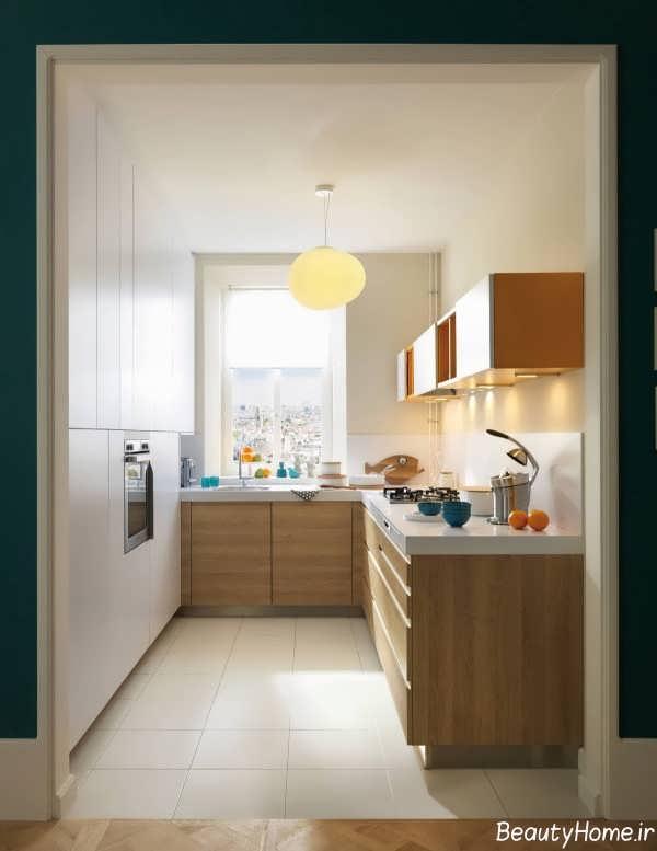 دکوراسیون داخلی شیک و کوچک آشپزخانه