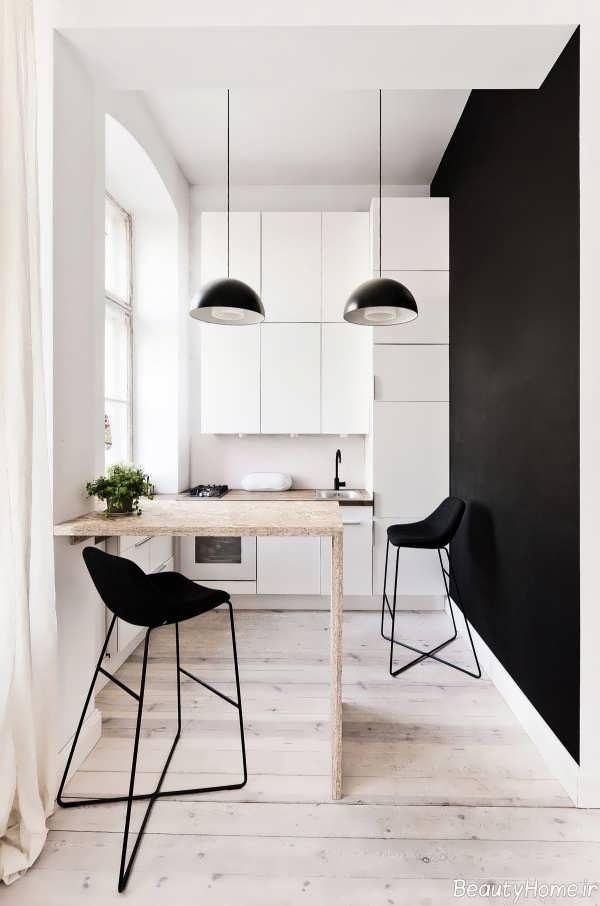 طراحی داخلی زیبا و سفید برای آشپزخانه