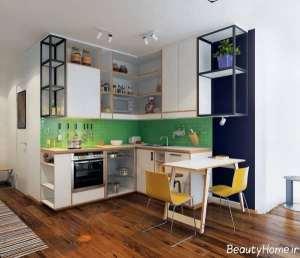دکوراسیون آشپزخانه کوچک و شیک