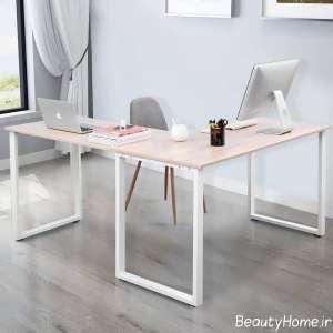 میز کار با تم سفید