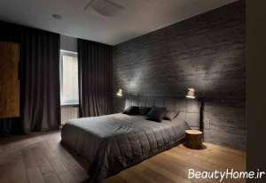 دیزاین جالب اتاق خواب مستر با تم مشکی