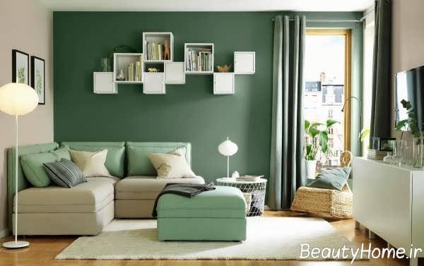 تم سبز در اتاق نشیمن