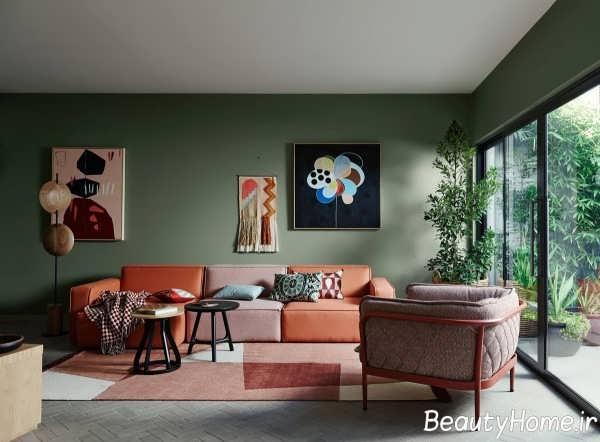 دیزاین جذاب اتاق نشیمن