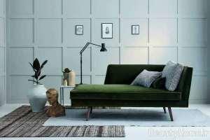 تم سبز در دیزاین اتاق پذیرایی