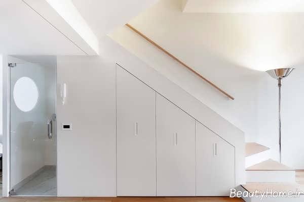 کمد دیواری سفید و شیک