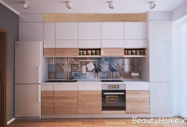 تزیین شیک دیوار آشپزخانه