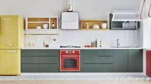 تزیین لاکچری دیوار آشپزخانه