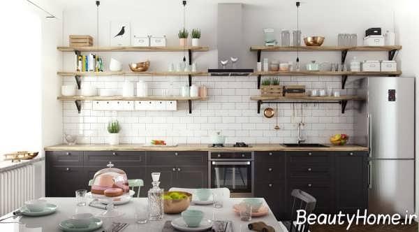 تزیین ظریف دیوار آشپزخانه