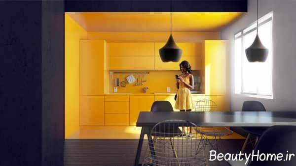تزیین مدرن دیوار آشپزخانه