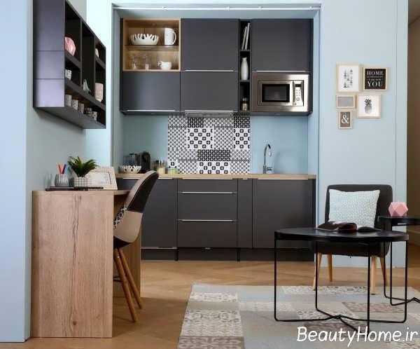 دکوراسیون لاکچری دیوار آشپزخانه