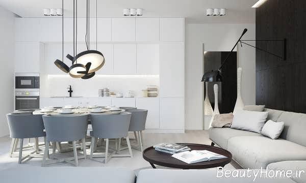 دکوراسیون ظریف دیوار آشپزخانه