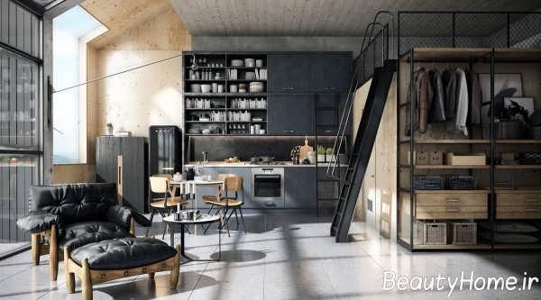 دیزاین فوق العاده دیوار آشپزخانه