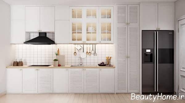 دیزاین شیک دیوار آشپزخانه
