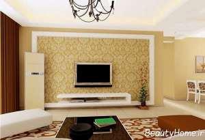 اتاق پذیرایی با تزیین فوق العاده