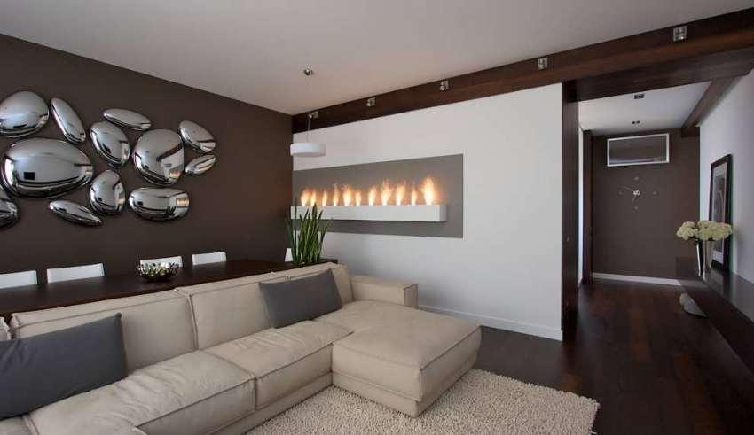 دیزاین زیبای دیوار اتاق پذیرایی