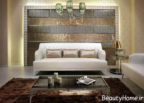 دیزاین شیک دیوار اتاق پذیرایی