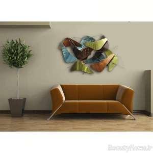 دیوار اتاق پذیرایی با دیزاین ظریف