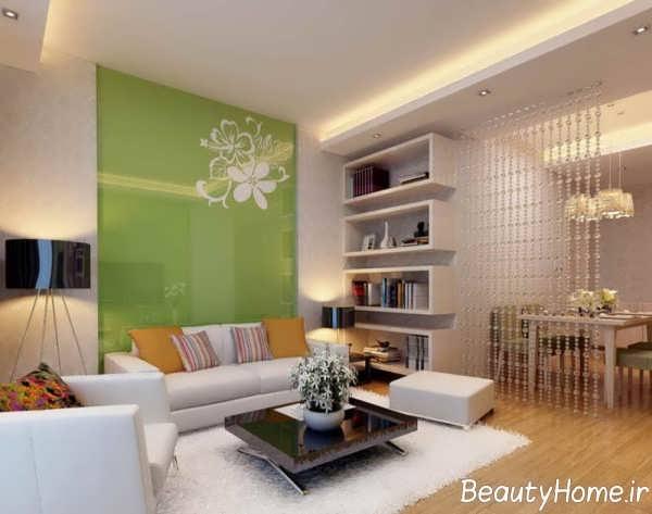 دیوار اتاق پذیرایی با دیزاین لاکچری