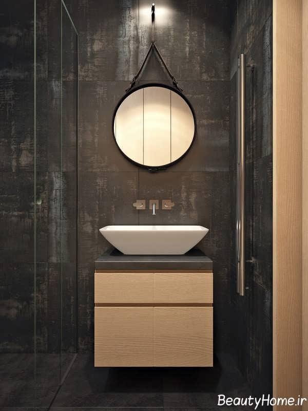 طراحی حمام با تم مشکی