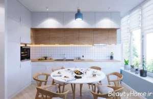 دکوراسیون زیبای آشپزخانه ال شکل