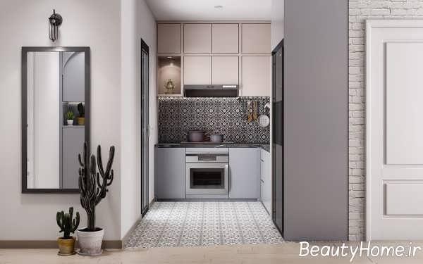 دکوراسیون شیک آشپزخانه ال شکل