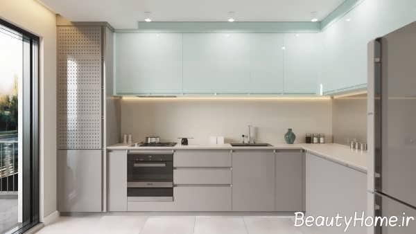 طراحی آشپزخانه به شکل ال