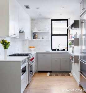 چیدمان فوق العاده آشپزخانه ال شکل