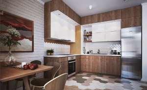 آشپزخانه ال شکل با دیزاین مدرن