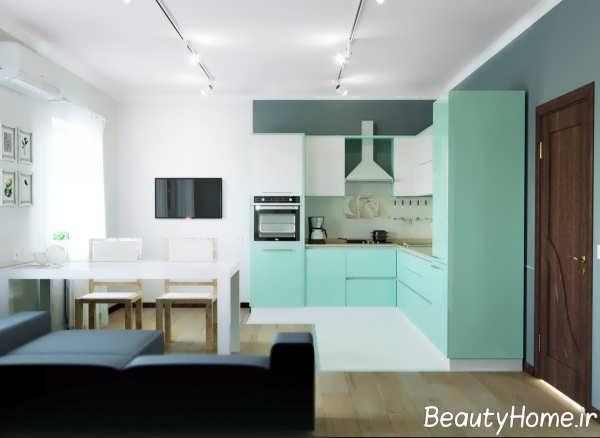 چیدمان جدید آشپزخانه ال شکل