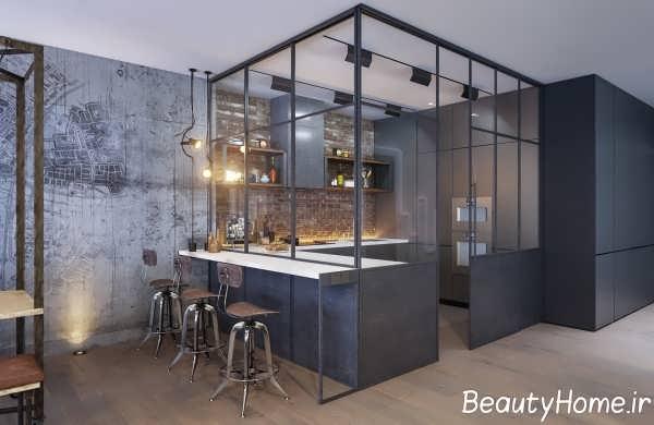 طراحی عالی آشپزخانه ال شکل