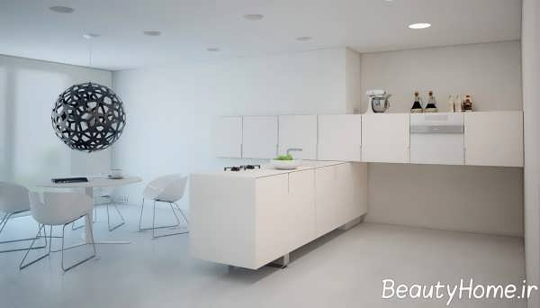 طراحی مدرن آشپزخانه ال شکل