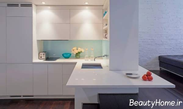 دیزاین عالی آشپزخانه ال شکل