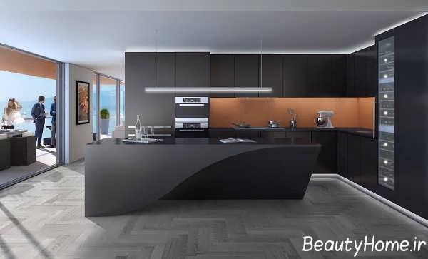 دیزاین متفاوت آشپزخانه ال شکل