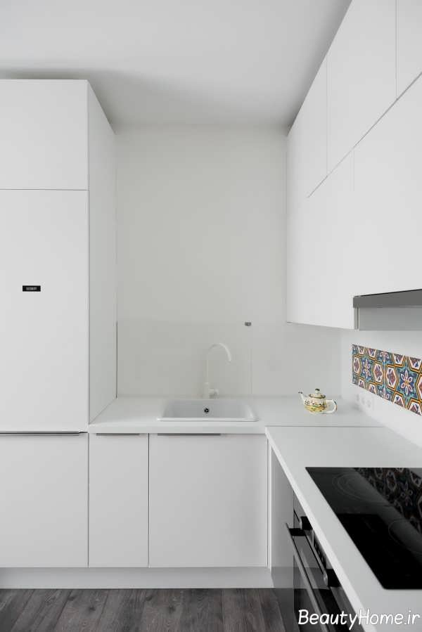 دکوراسیون جذاب آشپزخانه ال شکل