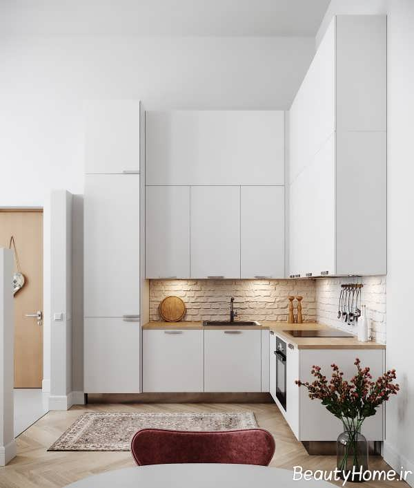 دکوراسیون جالب آشپزخانه ال شکل