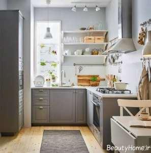 دکوراسیون جدید آشپزخانه ال شکل