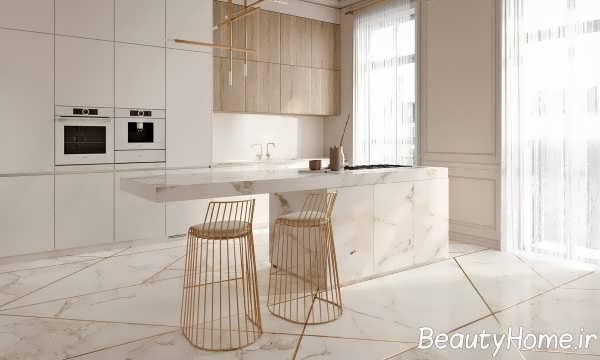 طراحی دکوراسیون آشپزخانه جزیره
