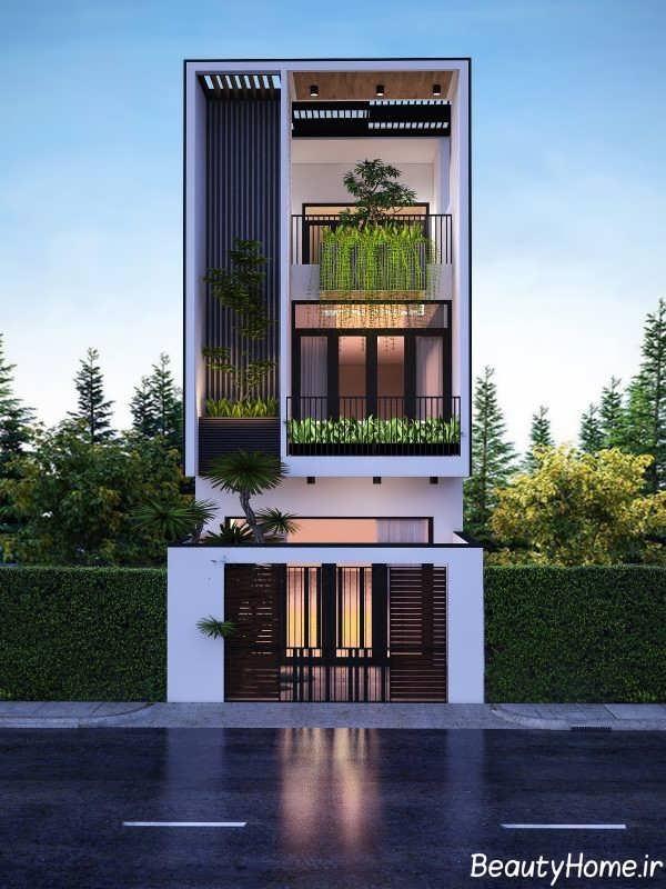 ساختمان با نمای کم حجم