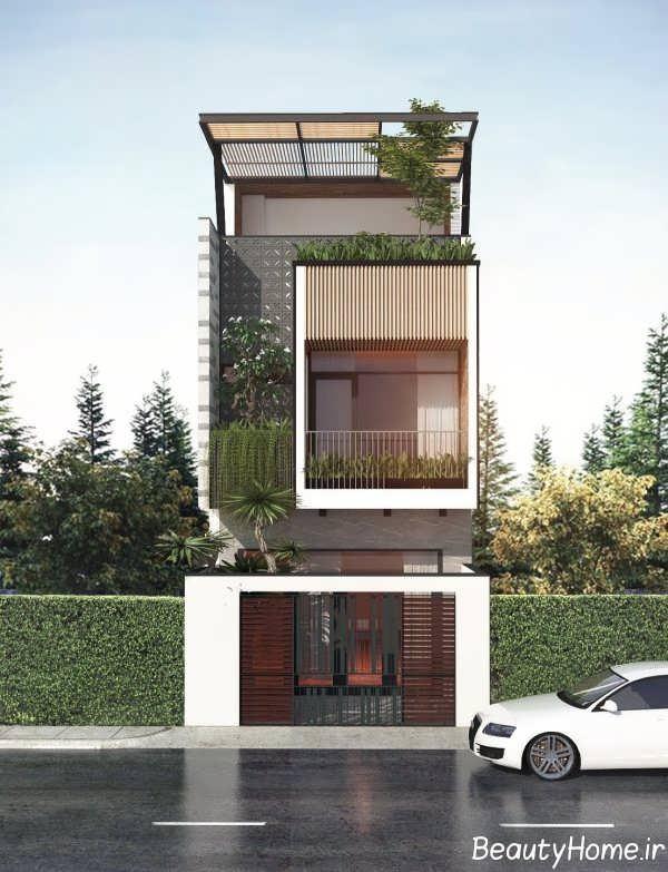 نمای ساختمان با دیزاین حاشیه کم