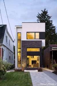 نمای ساختمان با طراحی حاشیه کم
