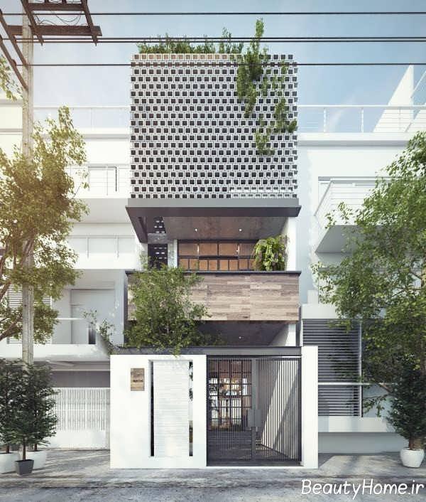 نمای ساختمان با دیزاین شیک