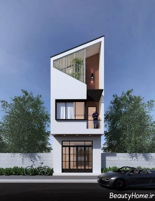 دیزاین عمودی نمای ساختمان