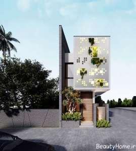 طراحی نمای ساختمان با حجم کم