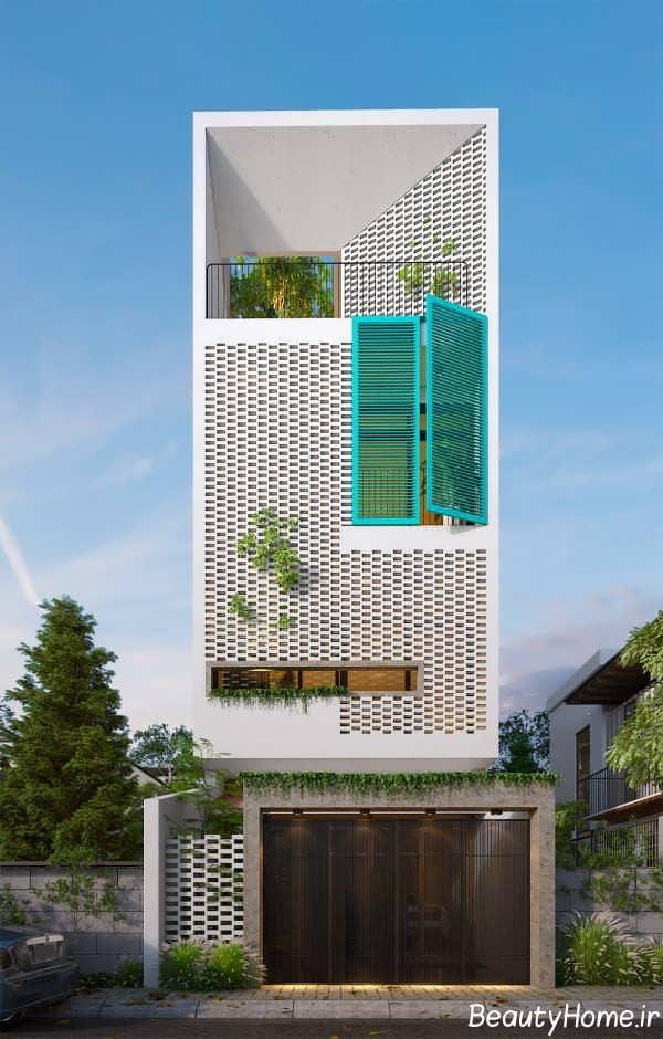 ططراحی لاکچری نمای ساختمان