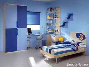 دکوراسیون آبی زیبا برای اتاق کودک